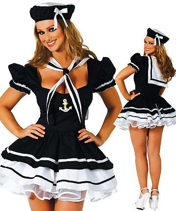 Marinheira...: Minis Dresses, Black Minis, Sailors Costumes, Halloween Costumes, Dresses Outfit, Parties Costumes, Sweetie Parties, Sailors Sweetie, Sexy Sailors
