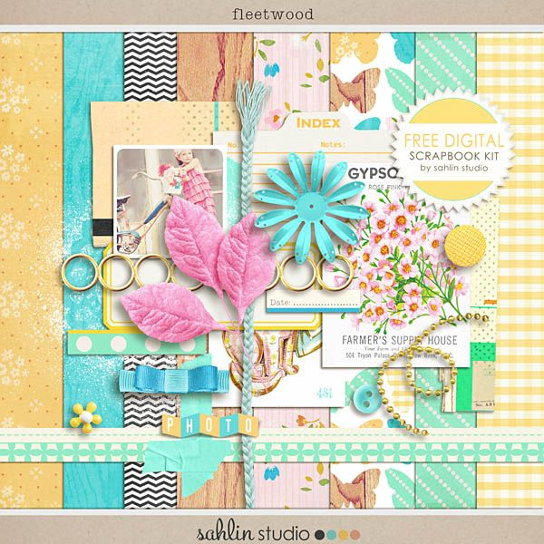 FREE Digital Scrapbook Kit, Fleetwood by Sahlin Studio at http://sahlinstudio.com/free-digtial-scrapbook-kit-fleetwood/#