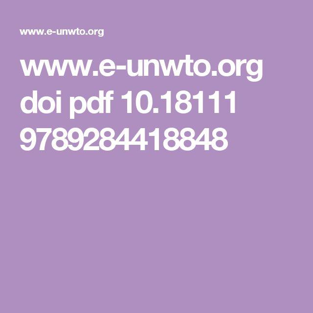 www.e-unwto.org doi pdf 10.18111 9789284418848