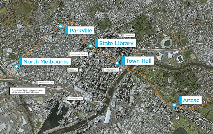 Map showing the new station names