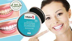 a infinitivo belleza natural polvo de carbon activado dientes blanqueamiento pasta de dientes