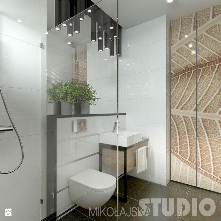 Mała łazienka w stylu skandynawskim Łazienka -