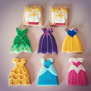These pretty and dainty princess (and prince!) cookies. | 27 Disney Princess Confections That Will Blow Your Mind