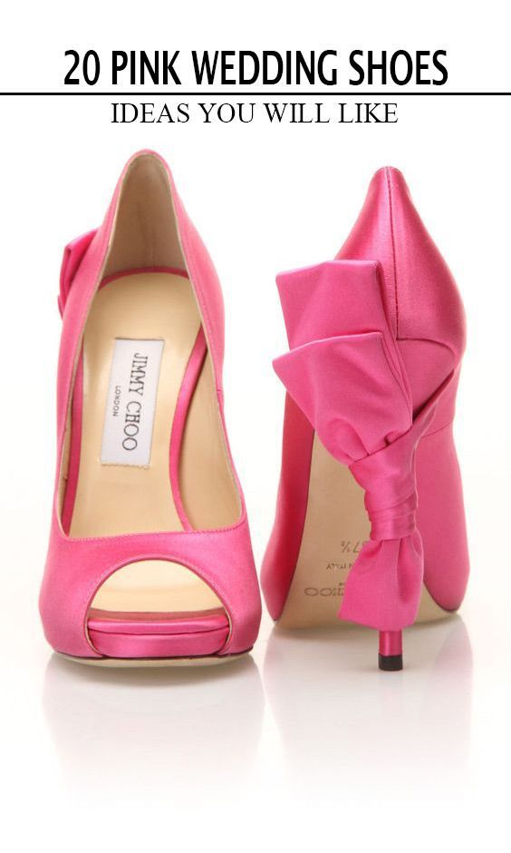 b8a958ede 20 Most Eye-catching Pink Wedding Shoes in 2019