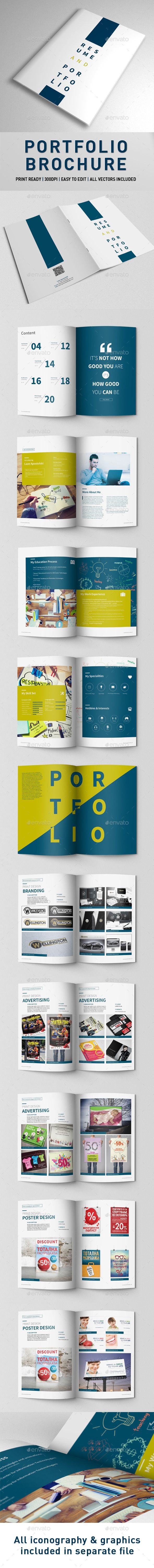Portfolio Brochure — InDesign Template • Only available here! →…