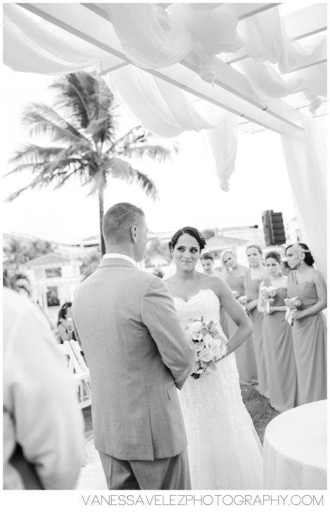 A beautiful wedding ceremony. Destination Wedding | El Conquistador Resort & Las Casitas Village | Puerto Rico | ElConResort.com Vanessa Velez Photography
