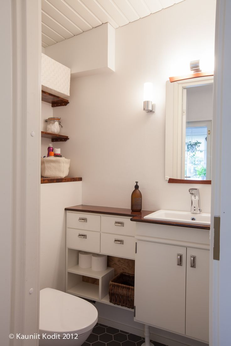 Old house's toilet designed By Lilian Design. Made By Puuhuone Nurminen