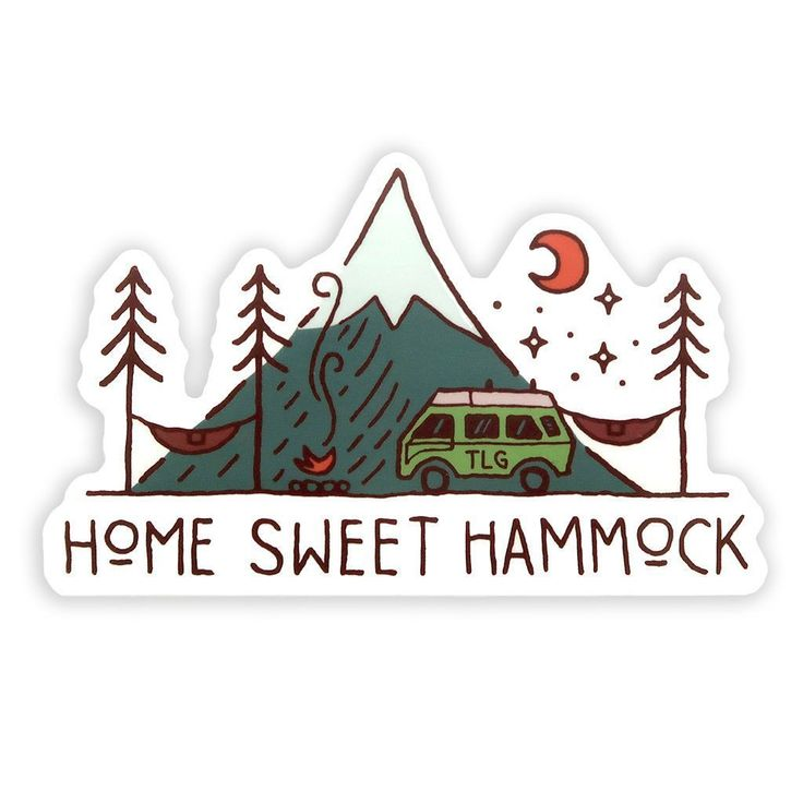 Home Sweet Hammock Sticker Sticker Design Cute Stickers