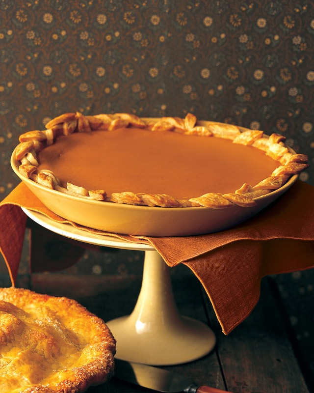 Martha Stewart's pumpkin pie recipe using sugar pumpkins from my garden