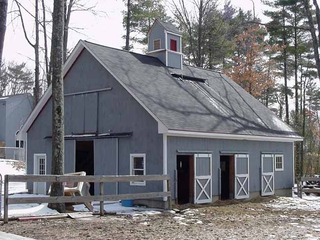 Backyard Barnyard : painted Blue Backyard, Stalls Barns, Dream Barns, Blue Barns, Backyard