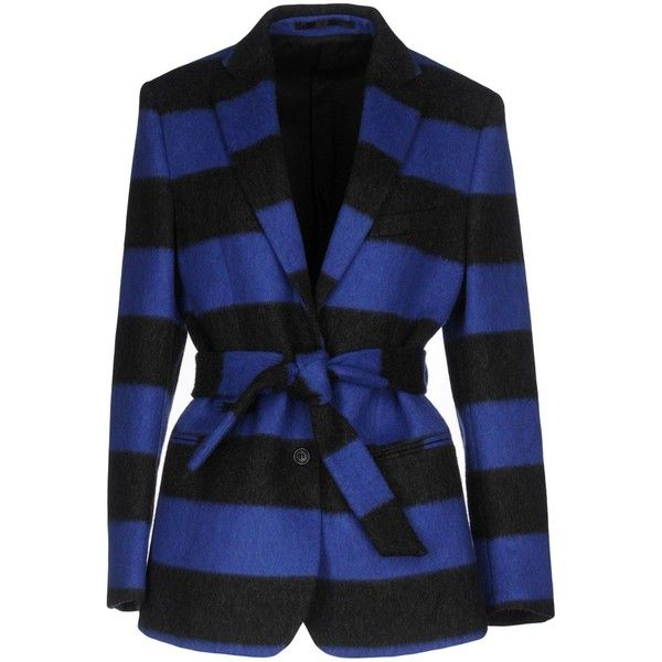 Mauro Grifoni Blazer ($354) ❤ liked on Polyvore featuring outerwear, jackets, blazers, blue, lapel jacket, blue blazers, velour jacket, velour blazer and blue blazer jacket