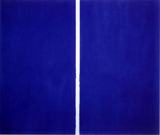 Barnett Newman is one of the foremost of the color field painters
