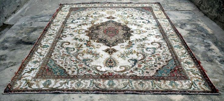 This beautiful rug we just found. Currently we are repairing the vintage rug.