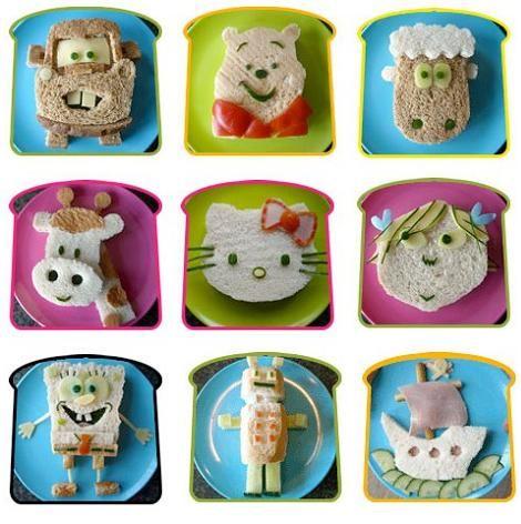 Aperitivos Para Fiestas Infantiles | Recetas para fiestas infantiles: sandwiches con formas