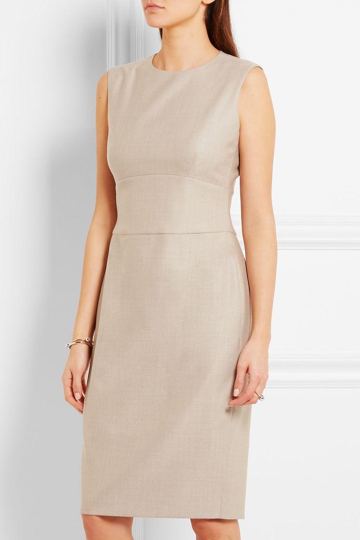 Max Mara | Gang stretch wool and silk-blend dress | NET-A-PORTER.COM