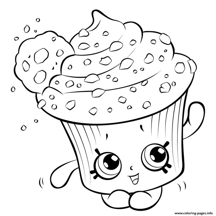 print amazing cupcake for kids shopkins season 5 coloring pages - Www Coloring Pages Com