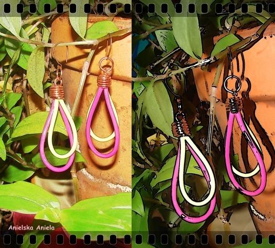 DIY..Tutorial..neonowe kolczyki ... - Anielska Aniela-DIY,Tutorial,szycie, przeróbki, inspiracje,biżuteria,vintage,retro