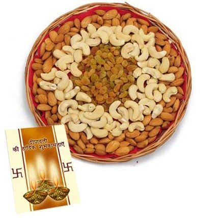 Check out our New Products  2kg Mix Dryfruits-For Diwali No Flower COD Basket of mix dryfruits 2kg ( Almonds, Kaju and raisins)  with roli chawal. And Diwali greeting card  Rs.3,094