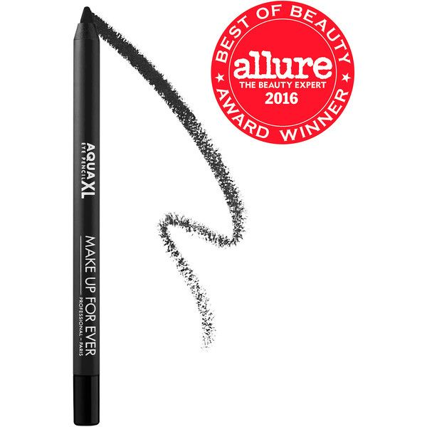 MAKE UP FOR EVER Aqua XL Eye Pencil Waterproof Eyeliner ($21) ❤ liked on Polyvore featuring beauty products, makeup, eye makeup, eyeliner, make up for ever, make up for ever eyeliner, pencil eyeliner, pencil eye liner and make up for ever eye liner