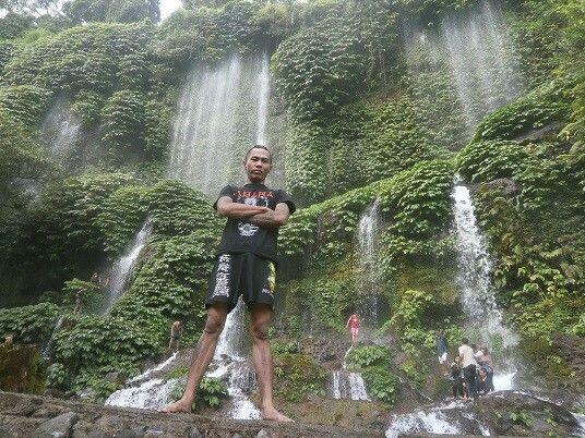 Benang Kelambu waterfall, lombok, NTB