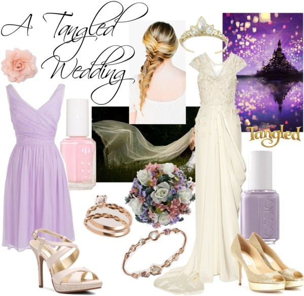 """A Tangled Wedding"" by reya-selene ❤ liked on Polyvore"