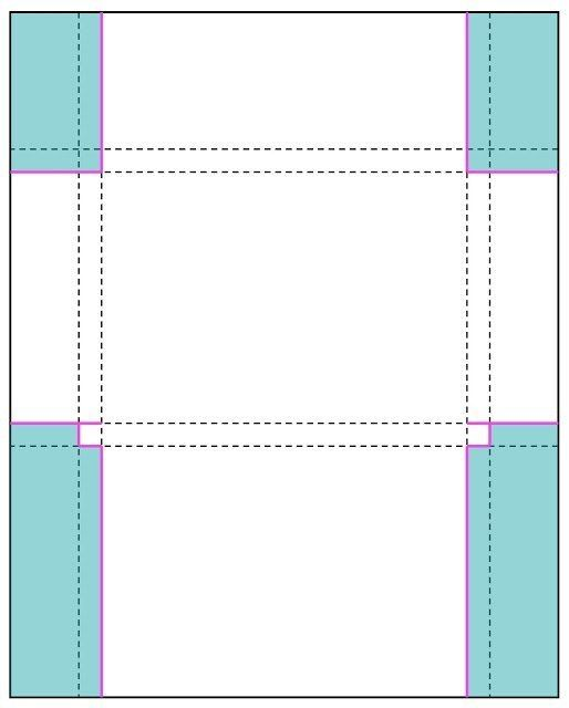 Макет открытки в печать
