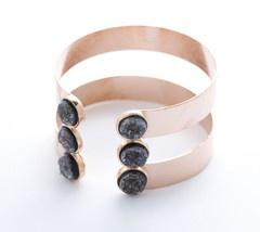Cuff: Jewels Fall, Bezel Jewelry, Bezel Rocks, Contemporary Jewellery