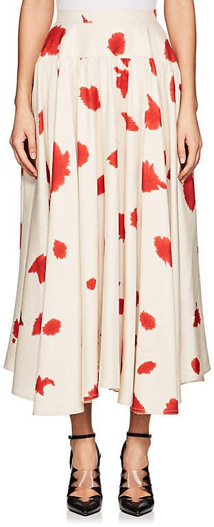 CALVIN KLEIN 205W39NYC Women's Paint-Splattered Silk Slub-Weave Midi-Skirt. Midi skirt fashions. I'm an affiliate marketer. When you click on a link or buy from the retailer, I earn a commission.