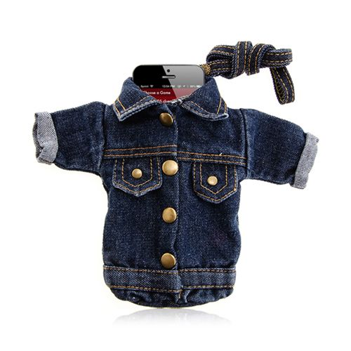 Jeans Jacket Pouch For Mobile Phone Funny Accessory for Smartphones #jeans #jacket #pouch #smartphone #funny #accessories $10.59
