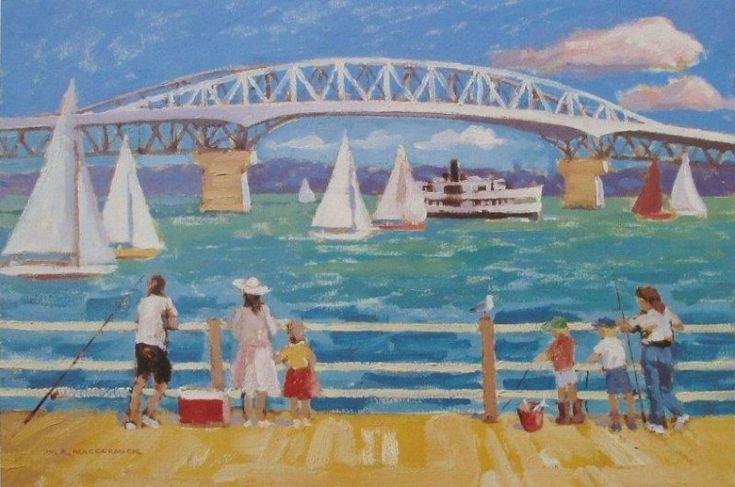 Check out Auckland Harbour Bridge by Bill MacCormick at New Zealand Fine Prints