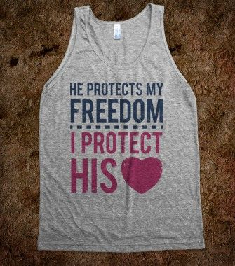 My Freedom, His Heart (Tank) - Military Girlfriends & Wives - Skreened T-shirts, Organic Shirts, Hoodies, Kids Tees, Baby One-Pieces and Tote Bags