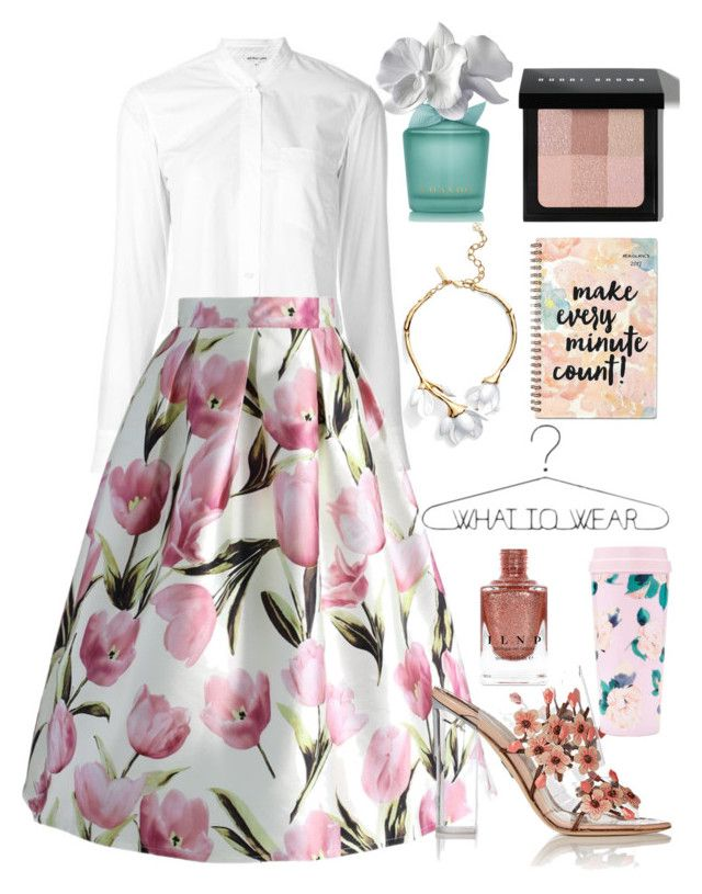 """""""128"""" by erohina-d ❤ liked on Polyvore featuring Helmut Lang, Chicwish, Paul Andrew, Bobbi Brown Cosmetics, AT-A-GLANCE, Oscar de la Renta and ban.do"""