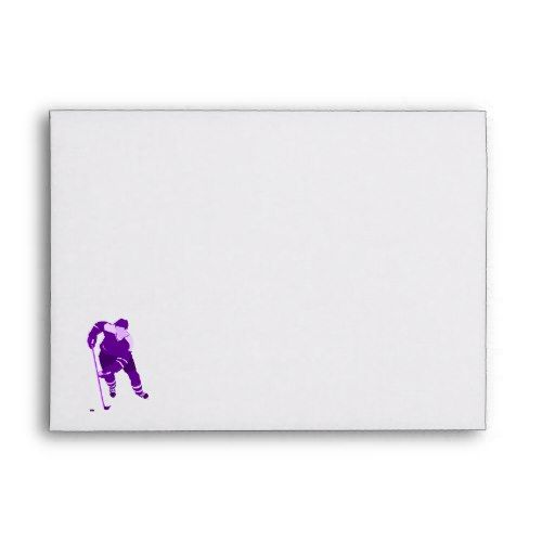 Purple Hockey Logo Envelope