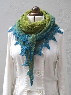 Alma Ella Shawl by Robin Lynn, free pattern on Ravelry.