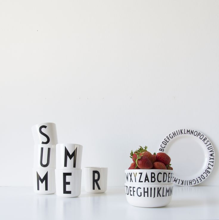 Delicious summer picnic snack. Served in our melamine bowls. Typography: AJ Vintage ABC.