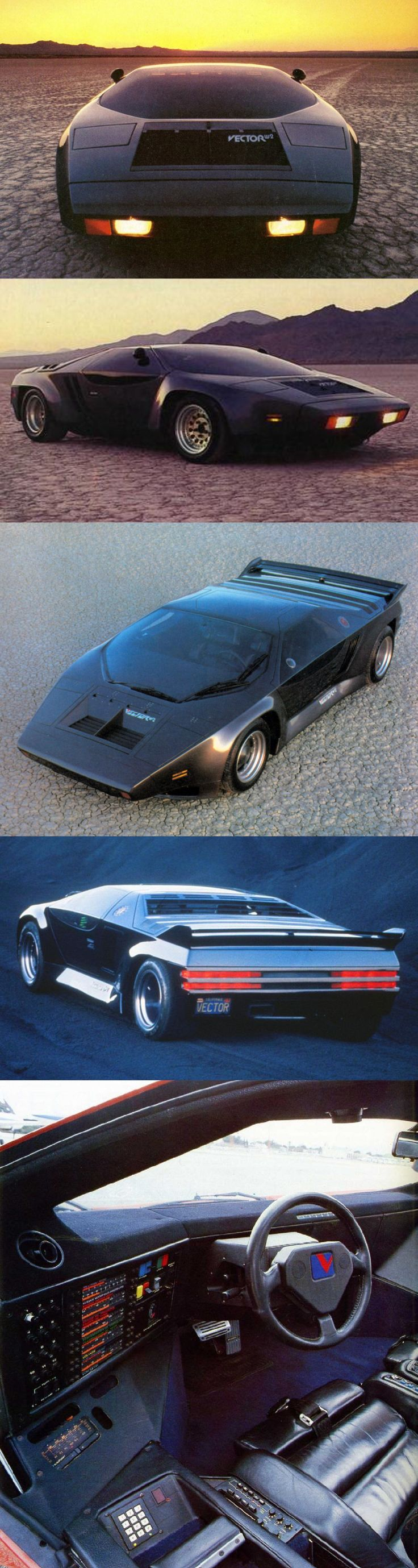 1978 VDF Vector W2 / Jerry Wiegert / 600hp 350 cid 5.7l twin-turbo V8 / 389 km/h / USA / grey