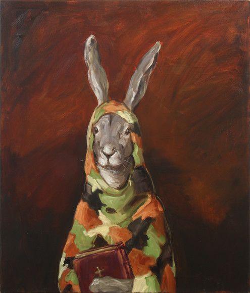 joanna braithwaite guns and bibles (2013)  oil on canvas, stretcher: 1073 x 918 x 24 mm