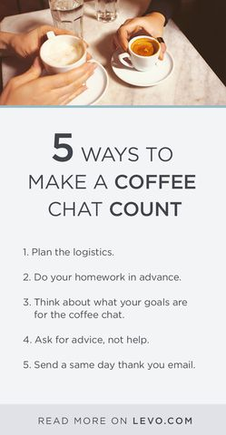 Great A Coffee Chat Can Be A HUGE Opportunity. Know How To Make The Most Of