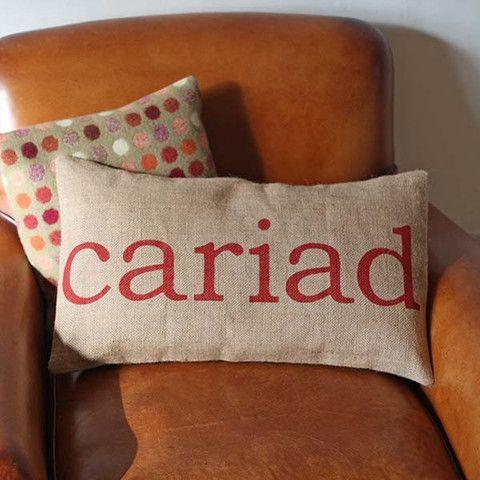 Cushion - Welsh - Cariad / Love