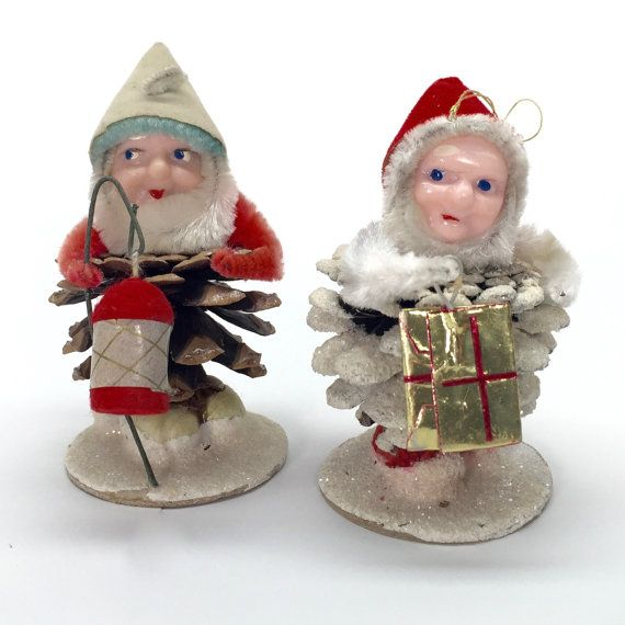 Reserved s christmas gnome figurines vintage