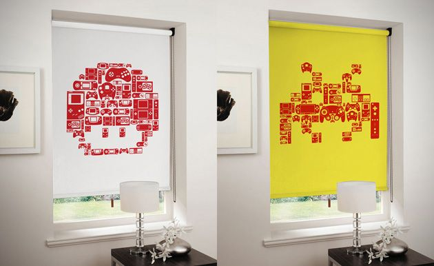 8-Bit Video Game Roller Blinds (1)Games Theme, Nes Consoles, Rollers Blinds, Frames Prints, Videos Games, Consoles Toaster, Retro Videos, Charactersclassic8Bit Gamespac, Video Games