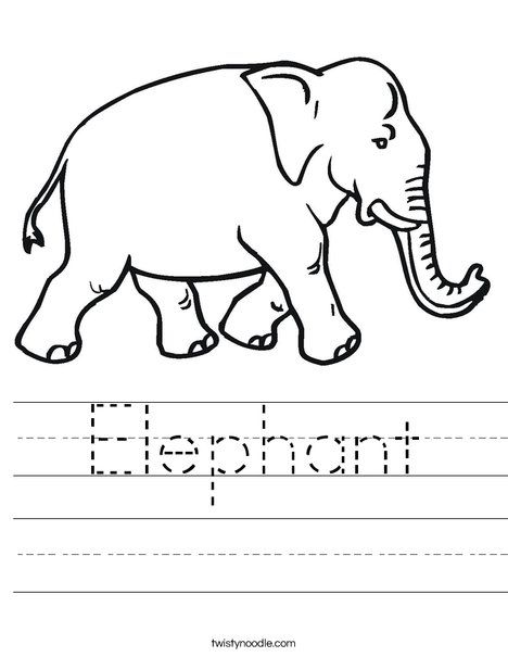 elephant coloring pages for preschool - photo#49