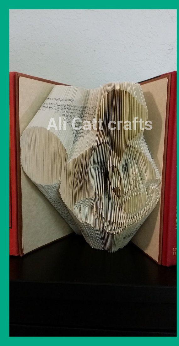 Mickey Mouse  Book Folding Pattern by alicattcrafts on Etsy