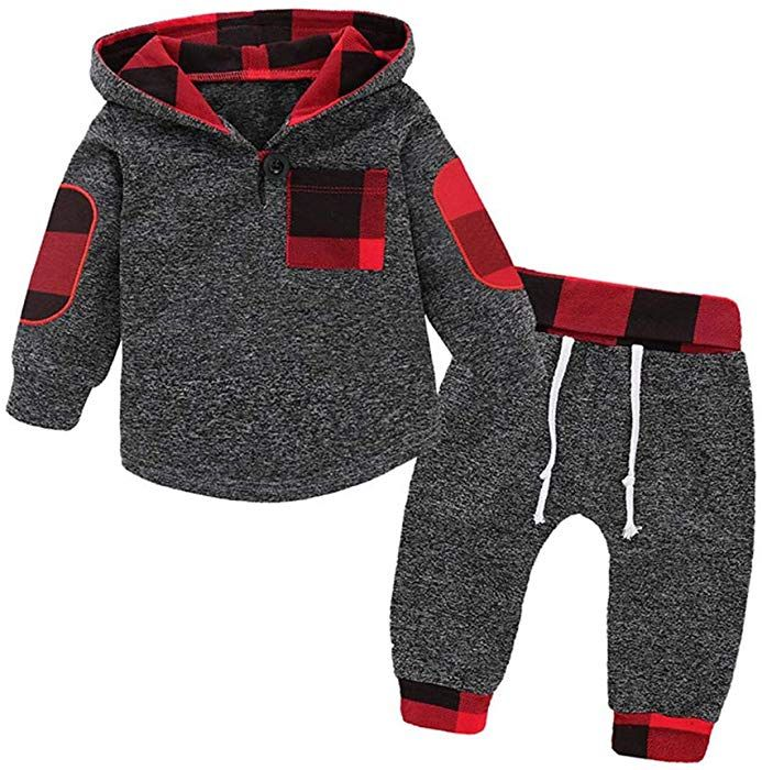 2PCS Baby Boys Long Sleeve Coat HOT Long Pants Set Kids Casual Clothes Outfits