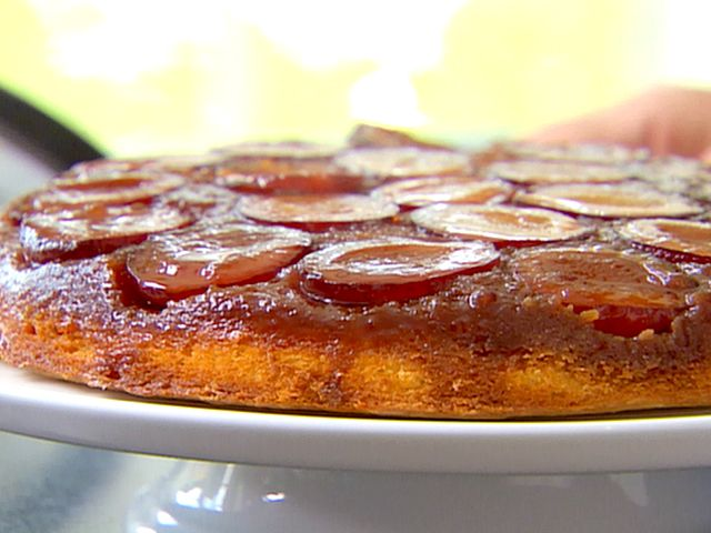 Plum Cake Tatin.  This recipe takes a bit of time, but for my Mister who grew up with a German mother, this is the closest to his mom's plum cake.  The cake isn't super sweet but it complements the sweet and tender plums perfectly.  Dust with powdered sugar JUST before serving or it will absorb into the glaze.  D