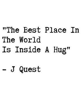 A hug has never failed to make my spirit smile