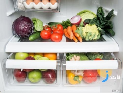 روش نگهداری سبزیجات و مواد غذایی در یخچال