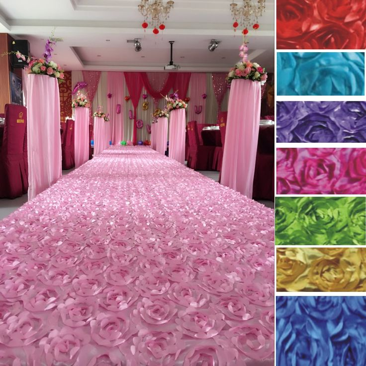 """Wedding Party Carpet Rug Aisle Runner Rose Flowers Decoration For Festival Background 55""""x15Ft 12Colors 23002 #Affiliate"""