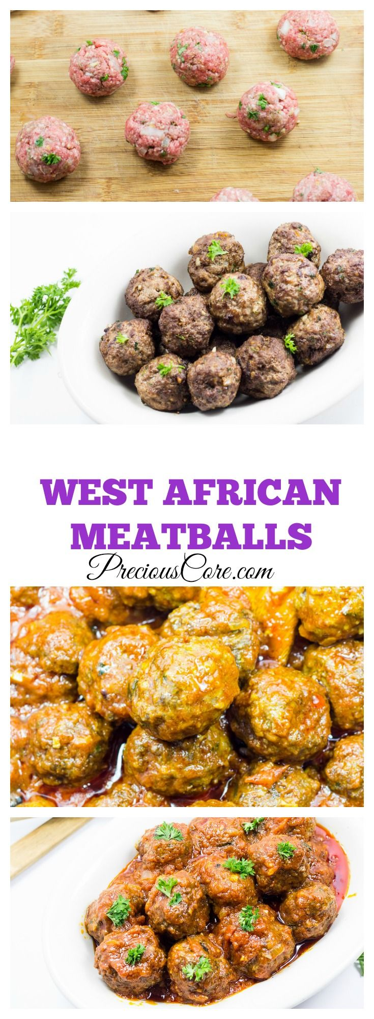 Meatballs in tomato sauce - West African style