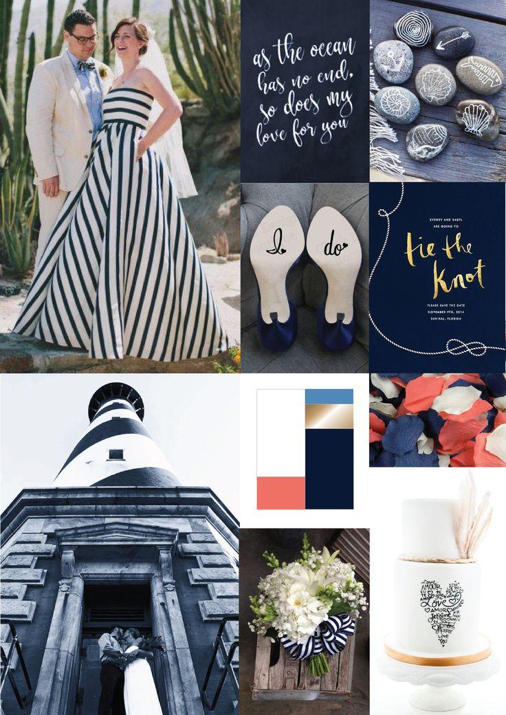 wedding {nautical navy} inspiration board